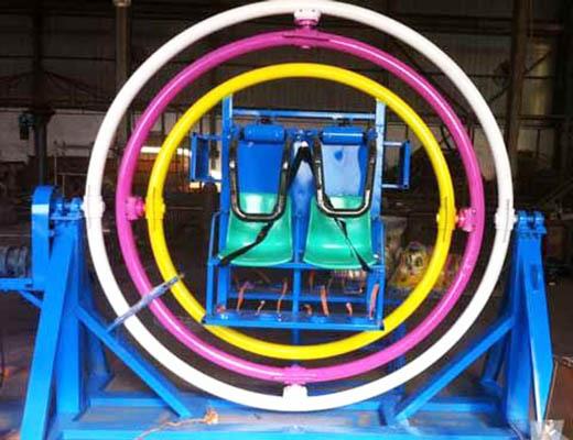 4 seat human gyroscope ride